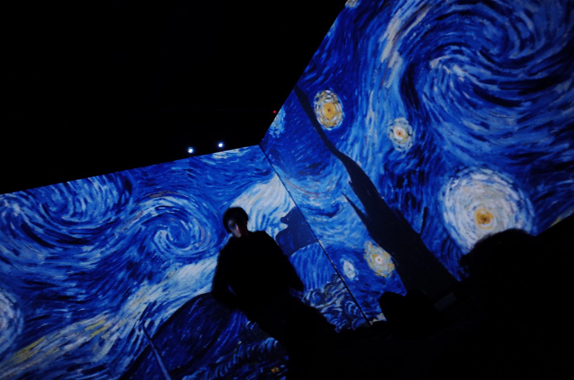 Van Gogh video installation. Berlin, 2017