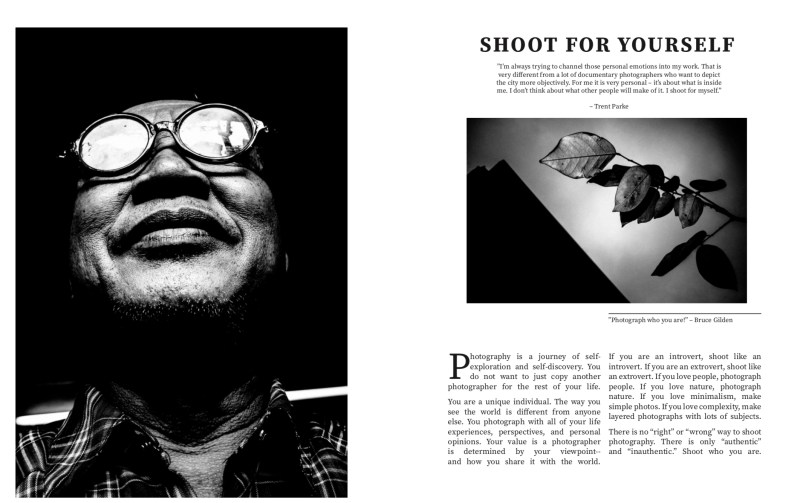 Shoot for yourself spread from MASTERS