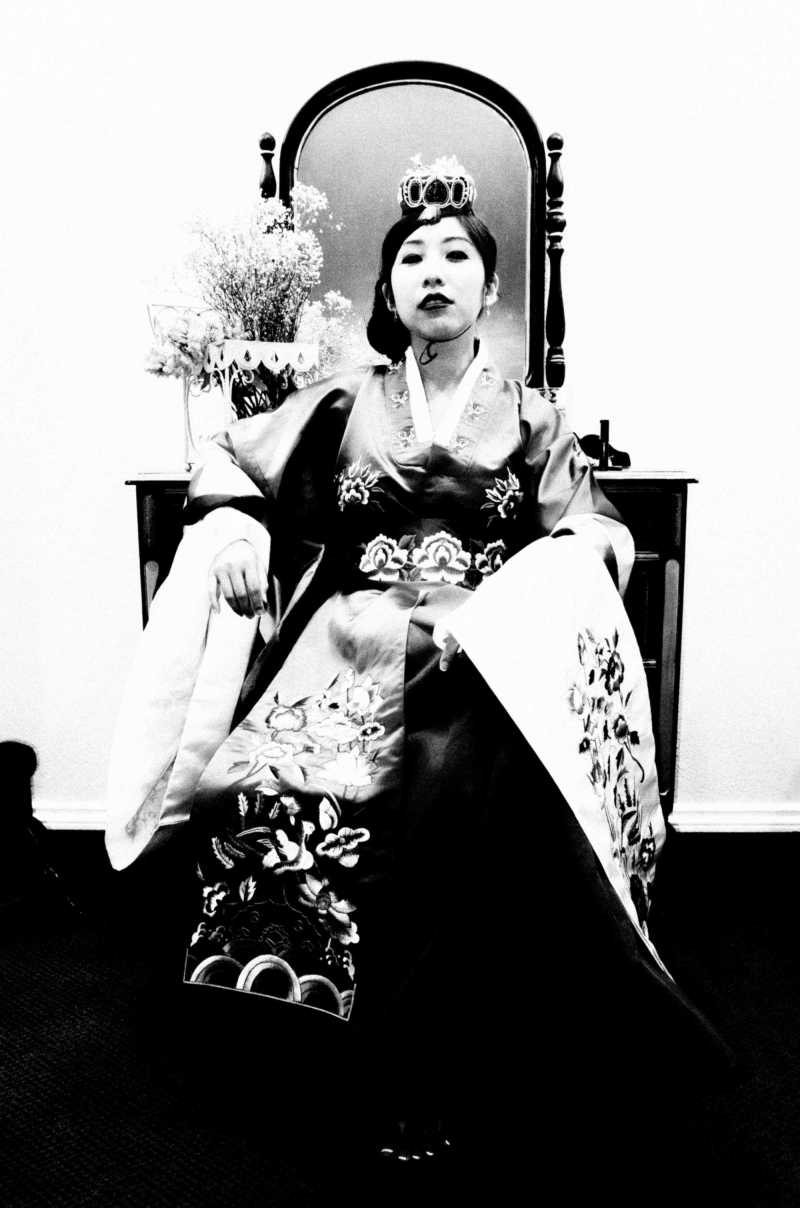 My wedding day with Cindy. Cindy in traditional Korean Hanbok, 2016