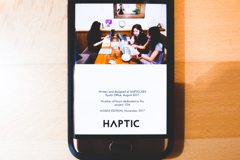 HAPTICLABS KYOTO OFFICE: ANNETTE KIM, JENNIFER NGUYEN, CINDY NGUYEN working on CREATIVE EVERY DAY