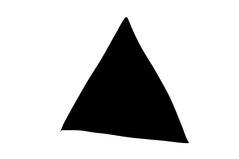 Black triangle on white background.