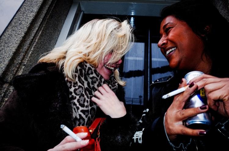 Girls laughing. Amsterdam, 2017