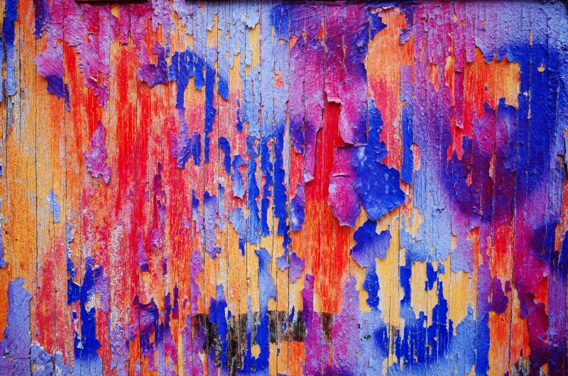 Colorful wall abstract. Amsterdam, 2017