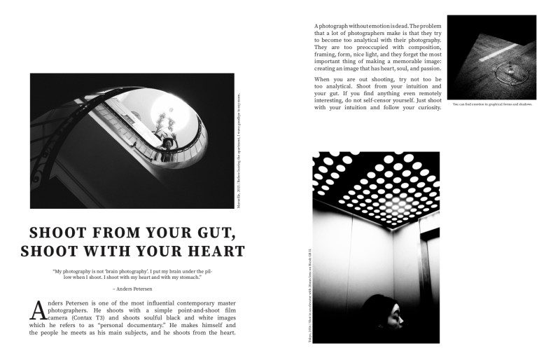 Shoot from your gut. Spread from MASTERS