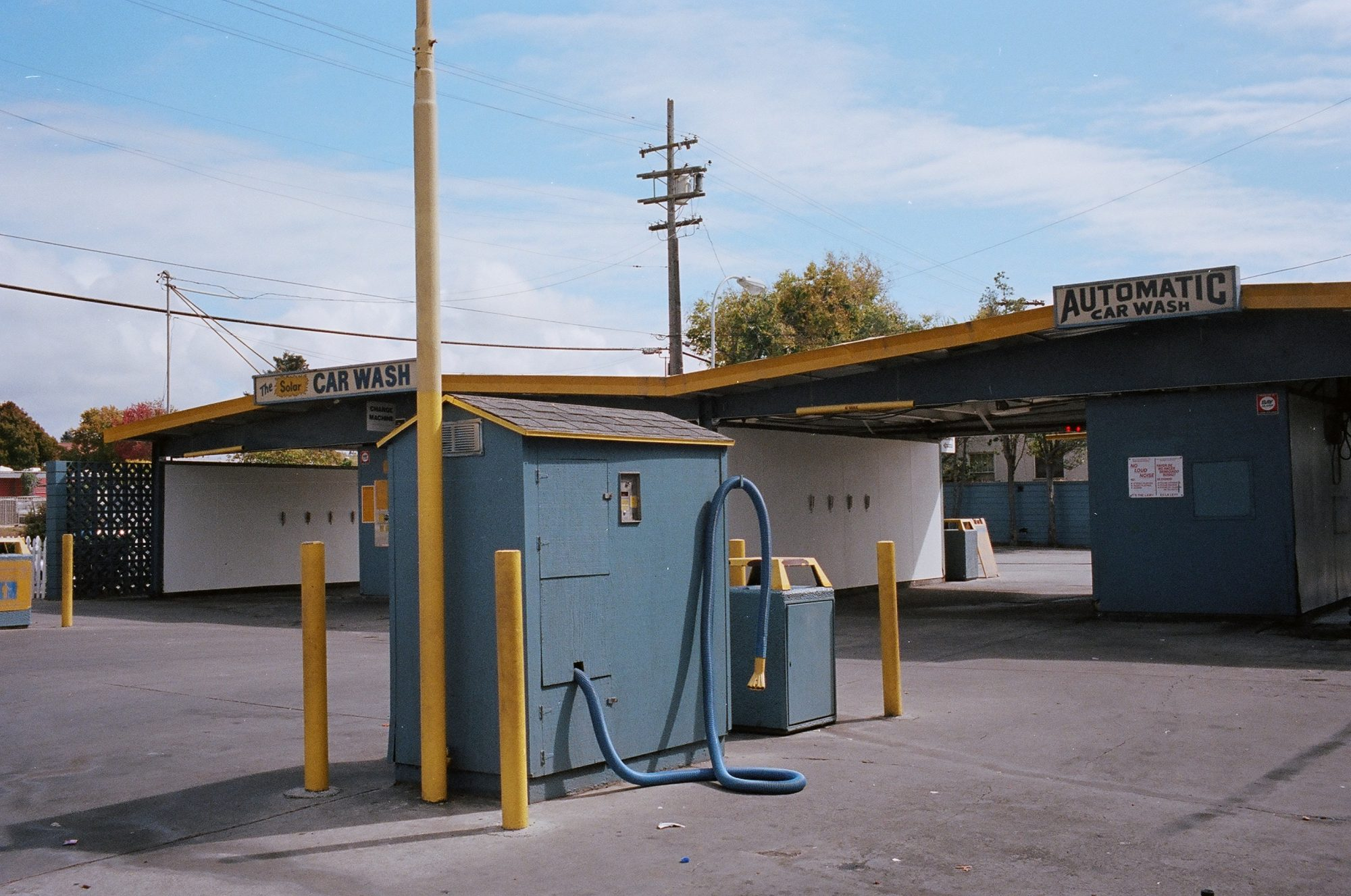 Urban landscape of car wash. Berkeley, 2013