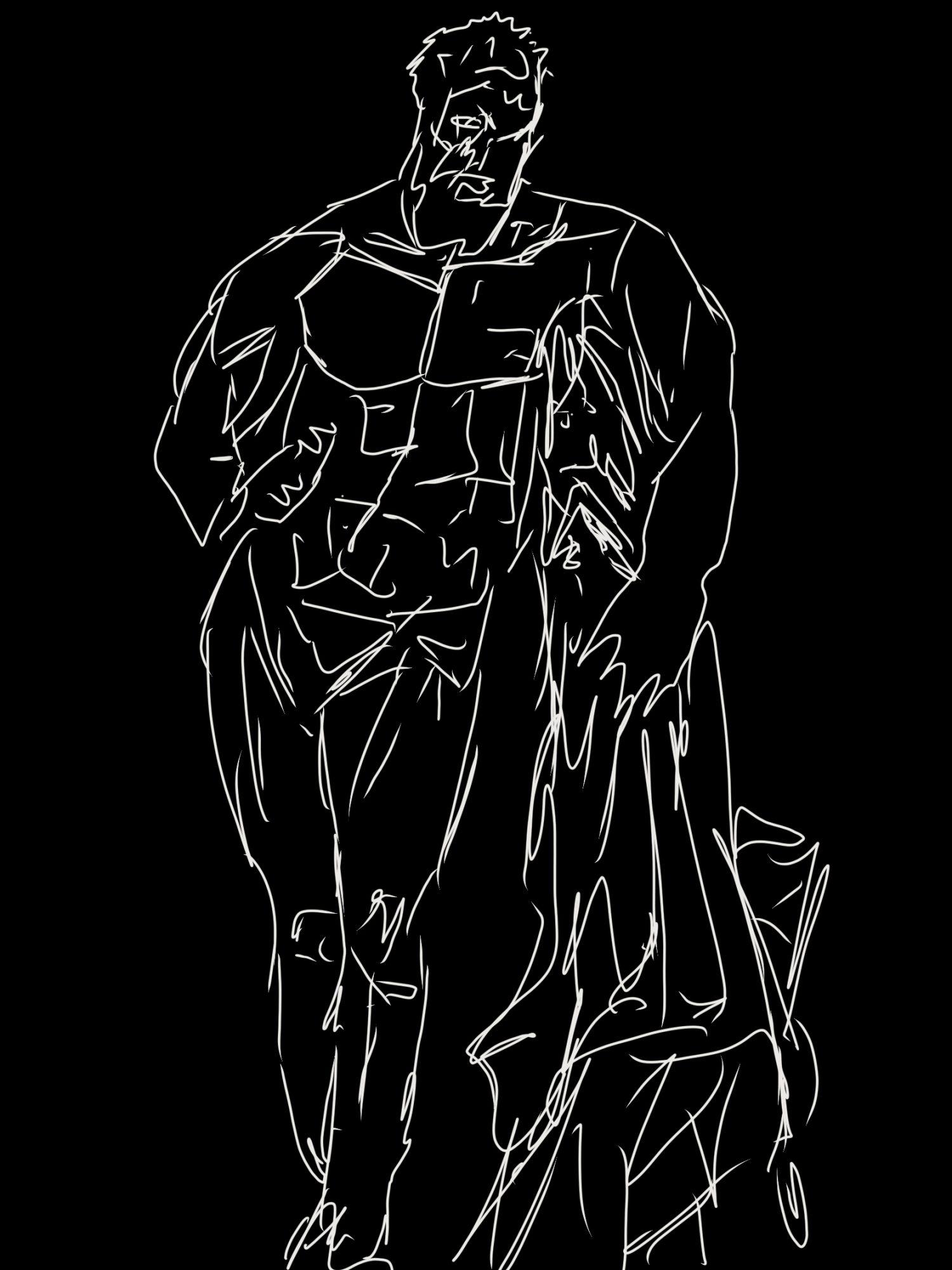 Hercules statue sketch
