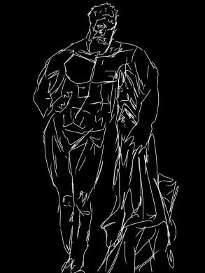 Hercules statue sketch proportions