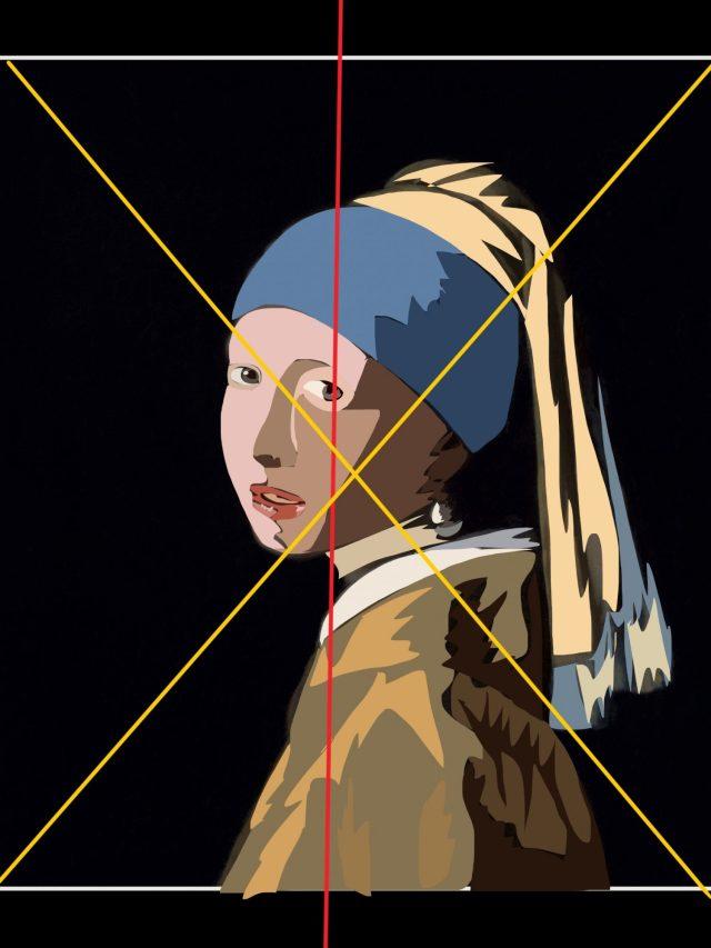 My sketch of Vermeer, girl with pearl earring.