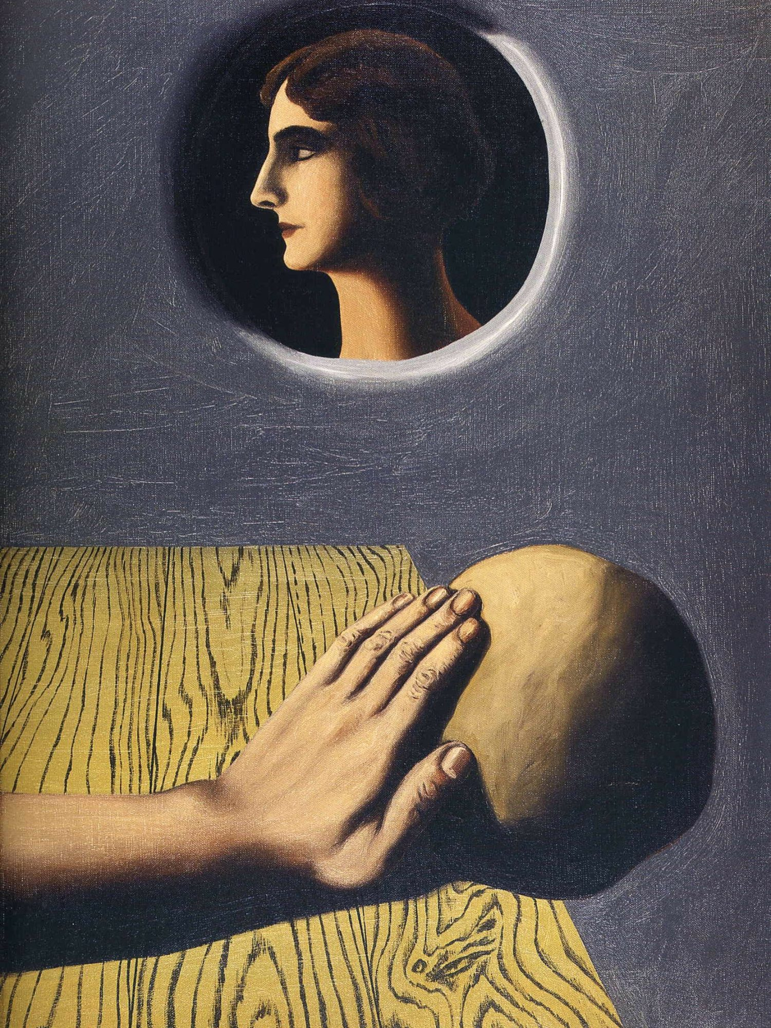 1927, the beneficial promise by Rene Magritte.