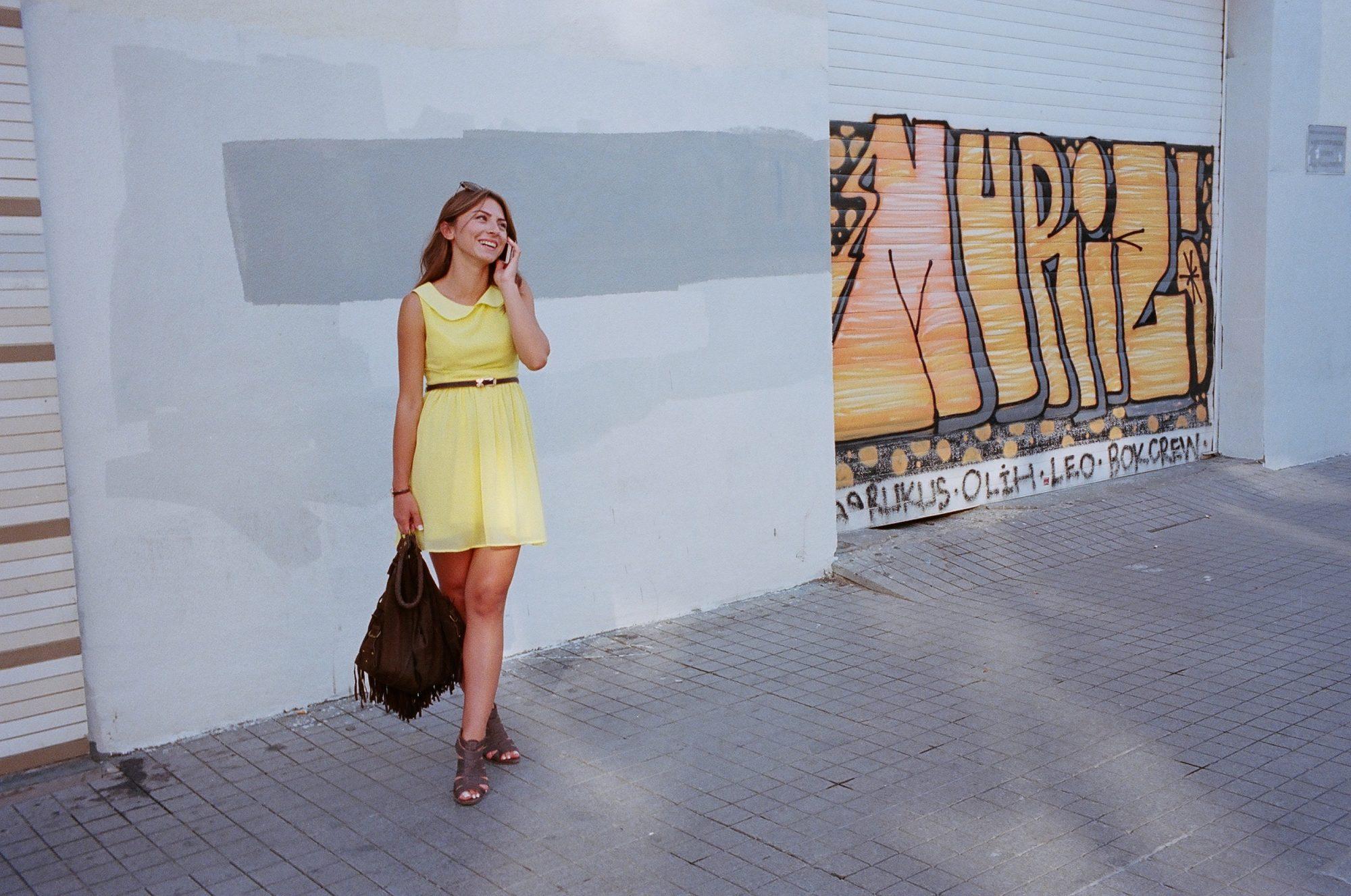 Istanbul, woman in yellow.