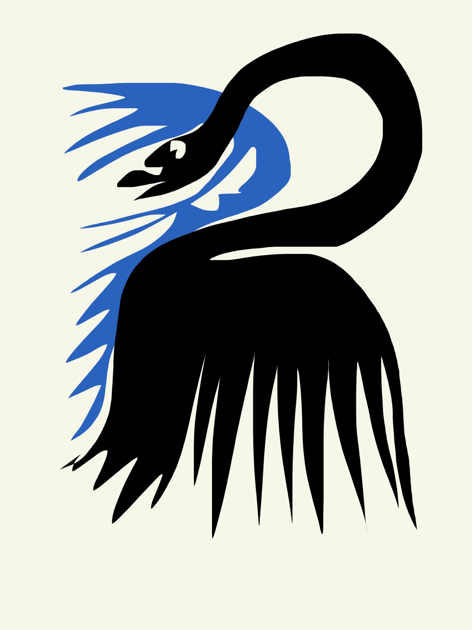 Black swan abstract by ERIC KIM x Matisse