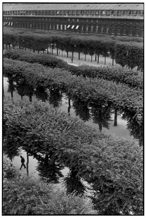 Henri Cartier-Bresson. FRANCE. Paris. The Palais Royal Gardens. 1959.