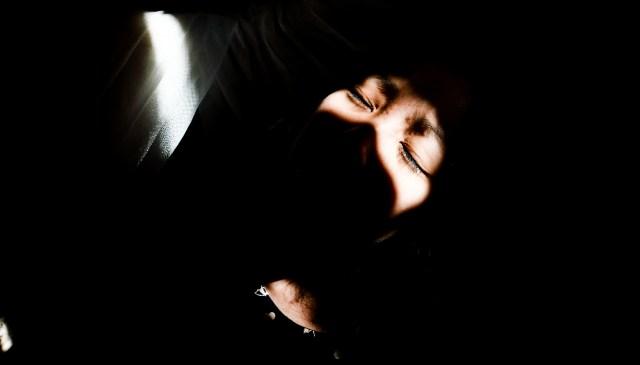 Cindy dramatic chiaroscuro shadow play. Marseille, 2017