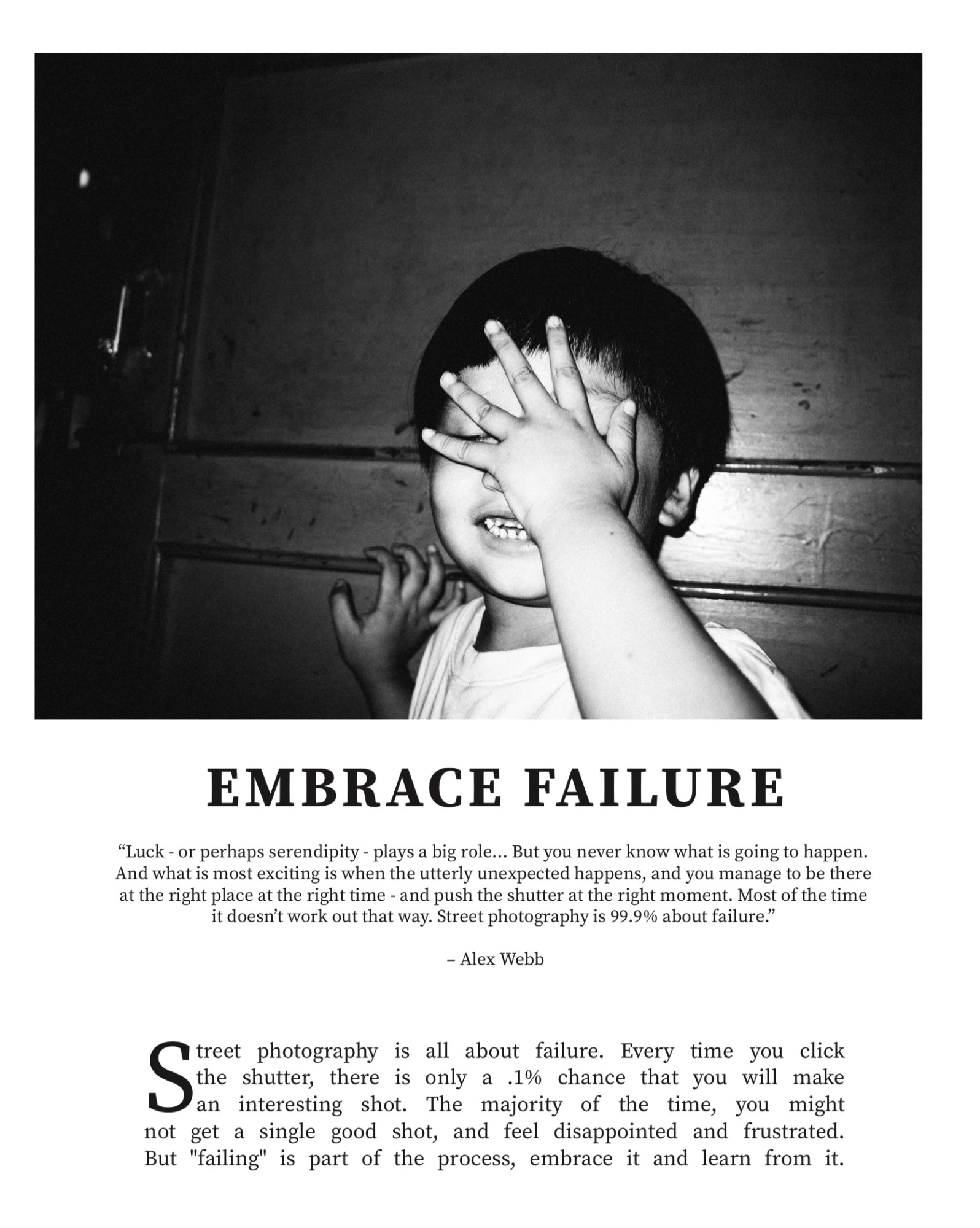 Learn From the Masters of Photography: Embrace Failure
