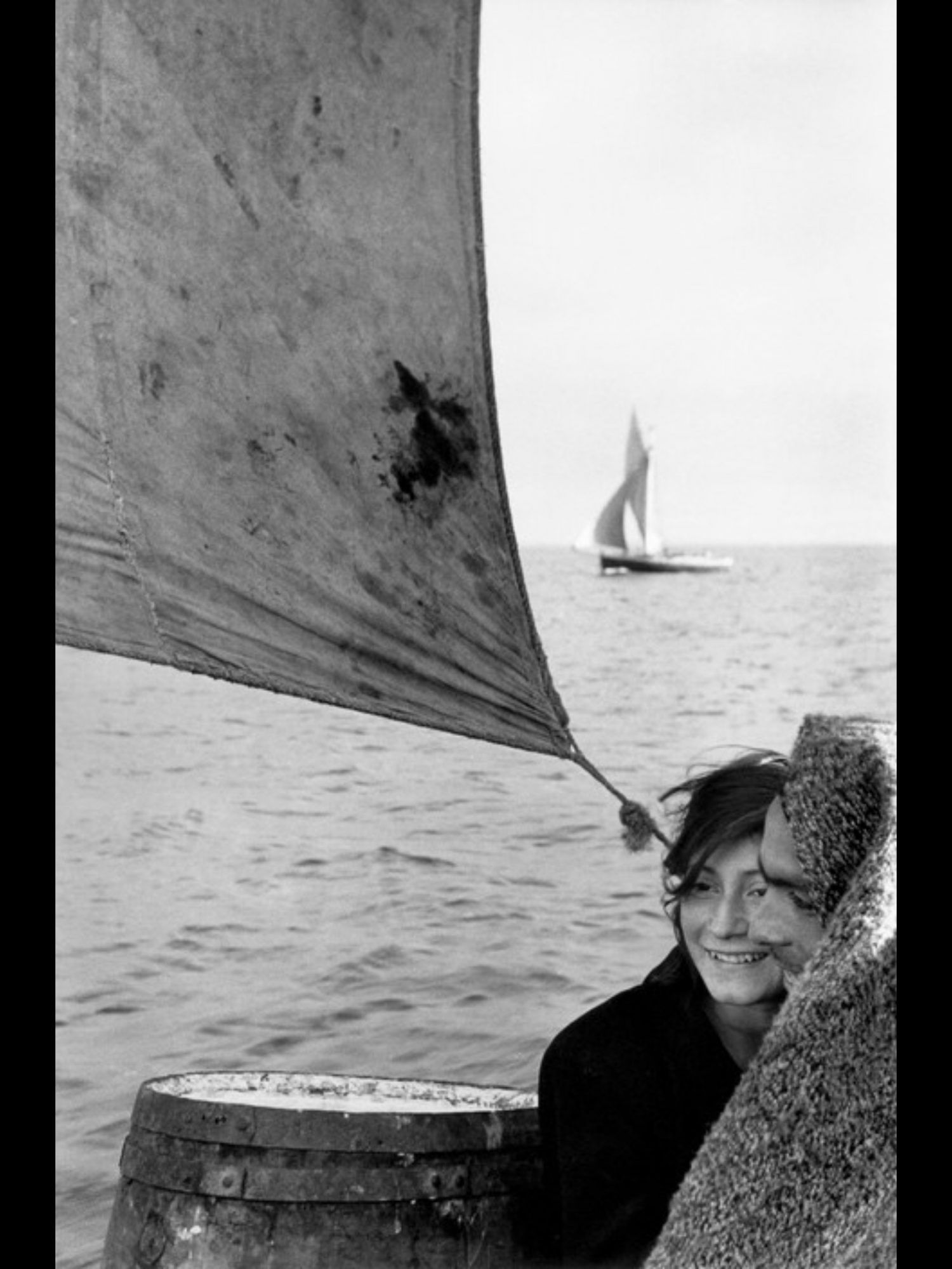 Sailboat at sea, Chile, 1957 by Sergio Larrain