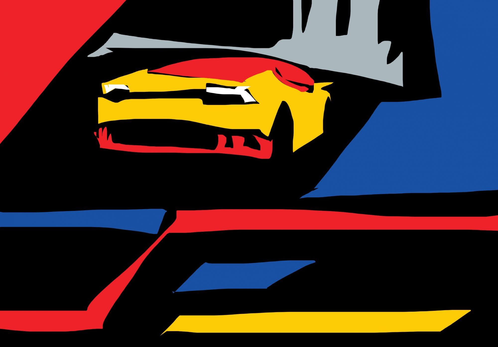 Lamborghini abstract by ERIC KIM