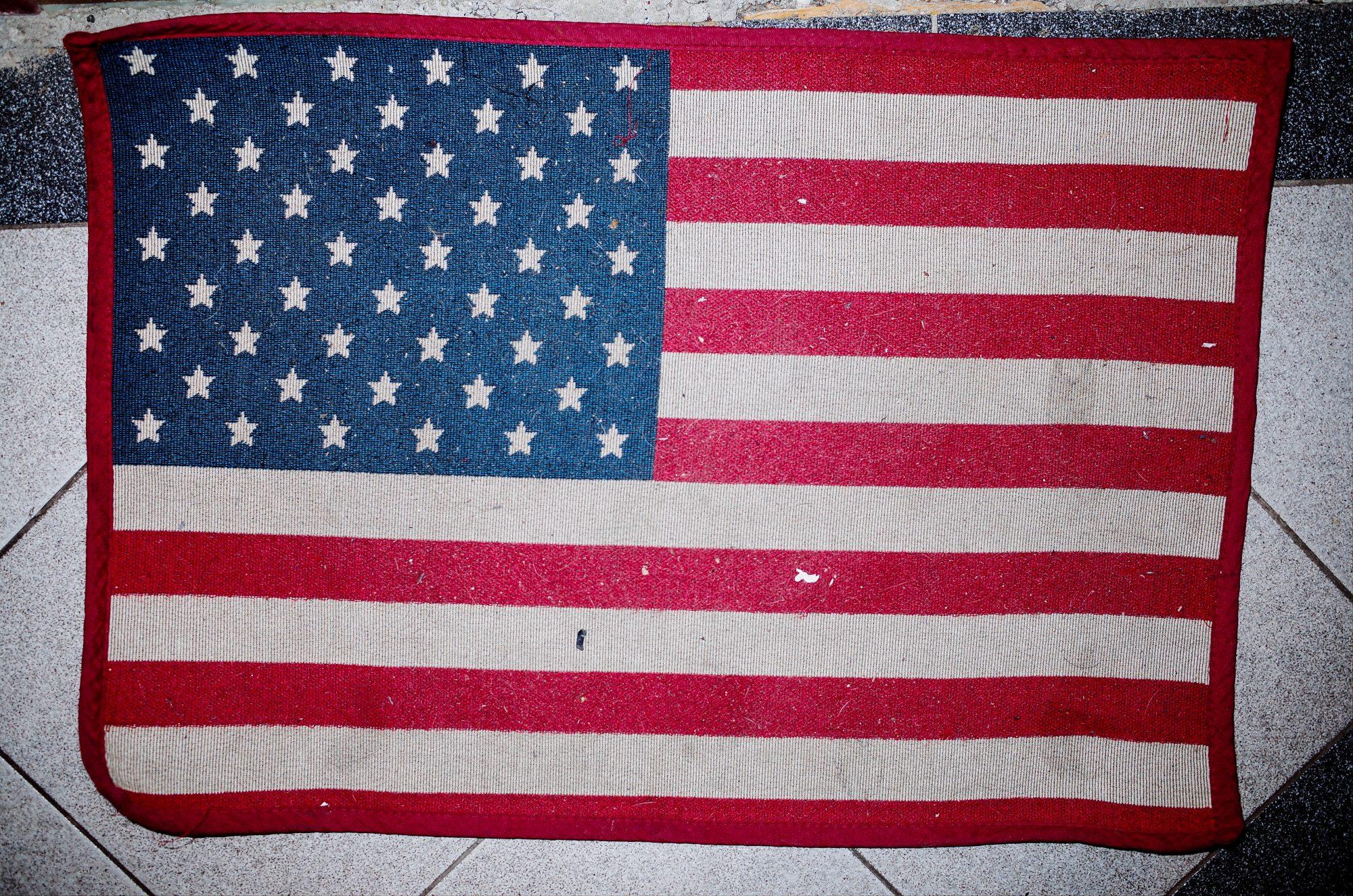 American flag. Prague, 2017