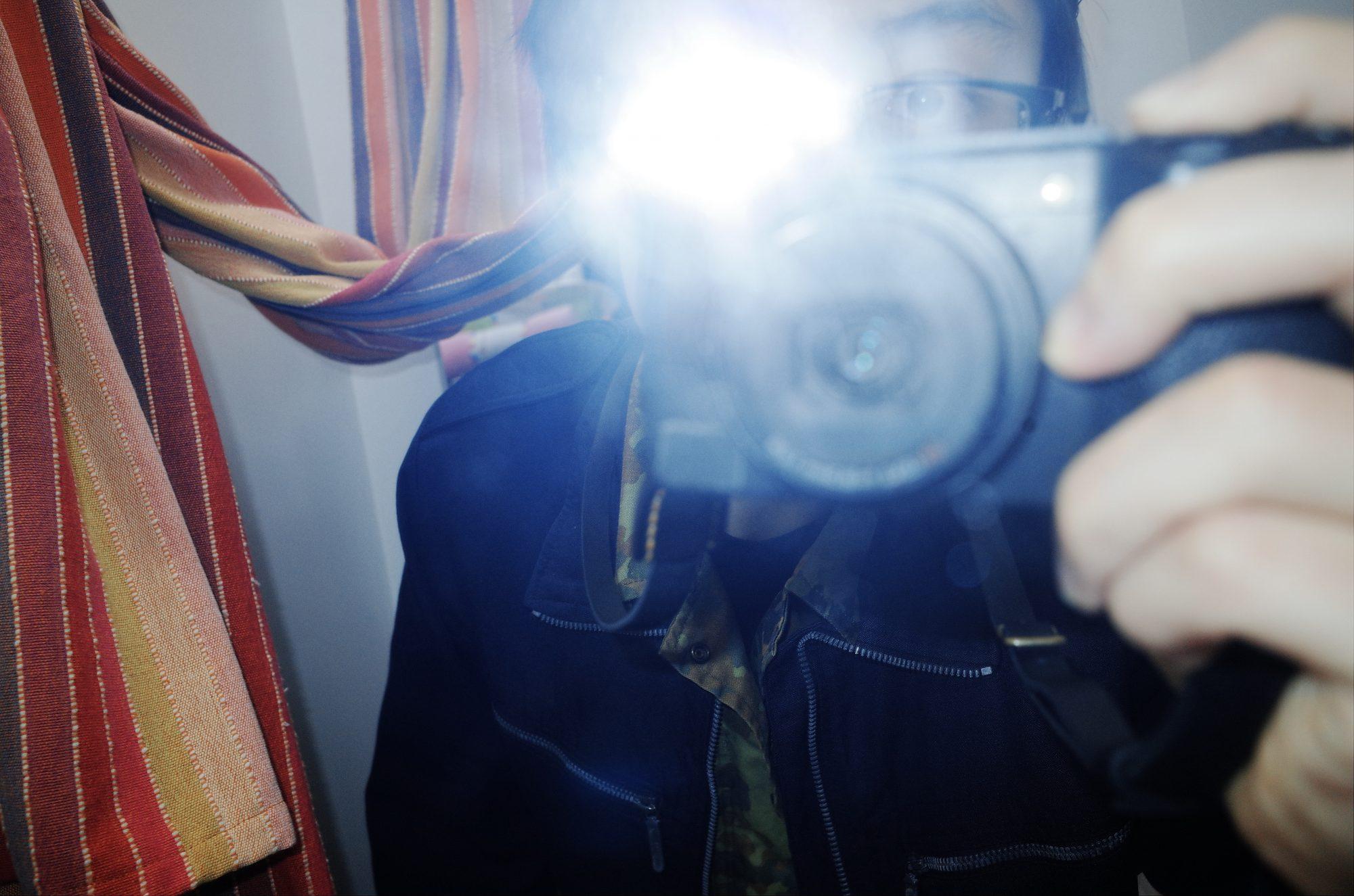 Selfie Lisbon blue flash