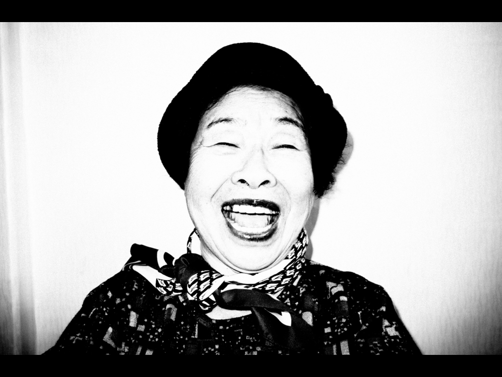 My laughing grandma. Seoul, 2017