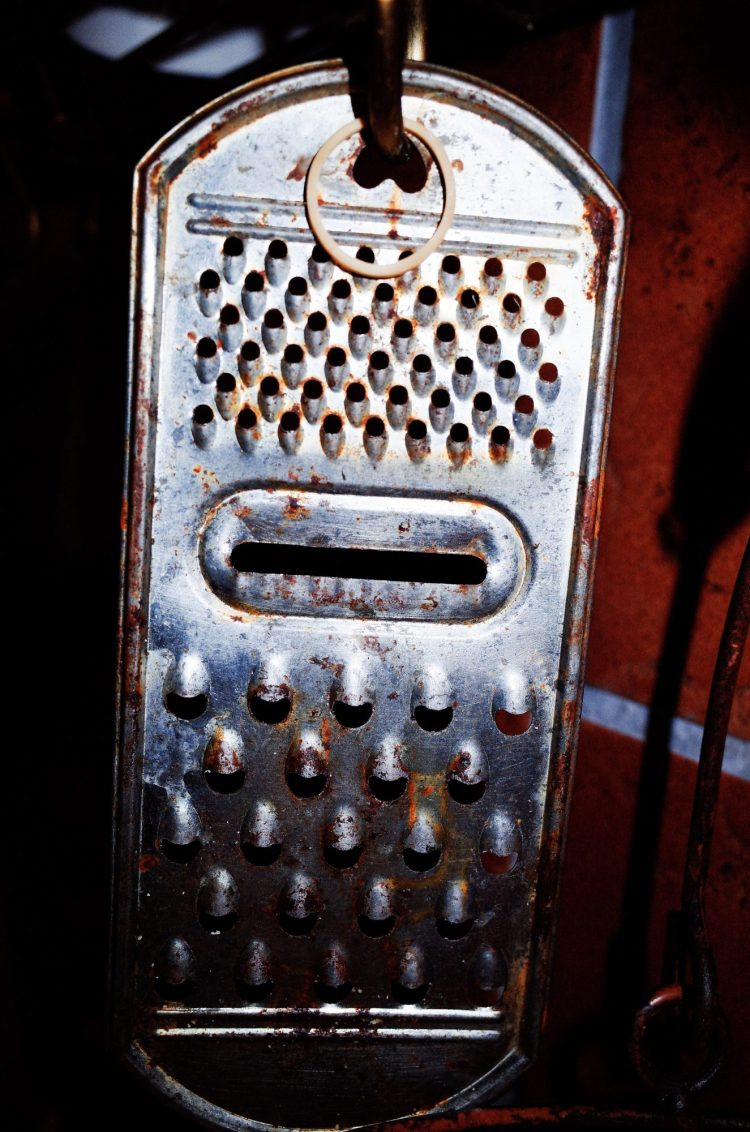 Cheese grater at home. Marseille. 2017