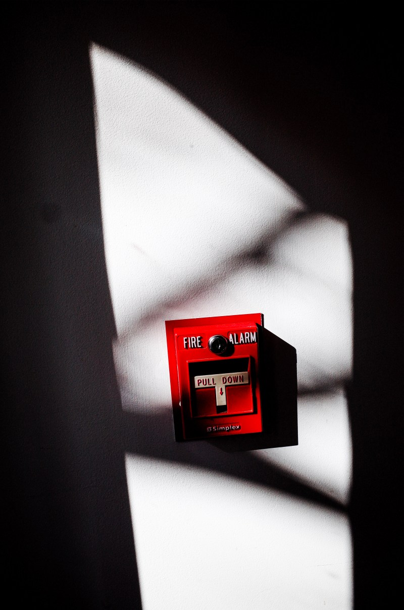Fire alarm. Boston, 2018