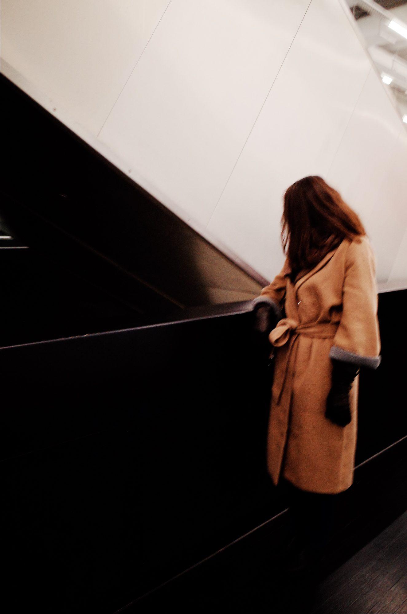 London off-center woman, 2018