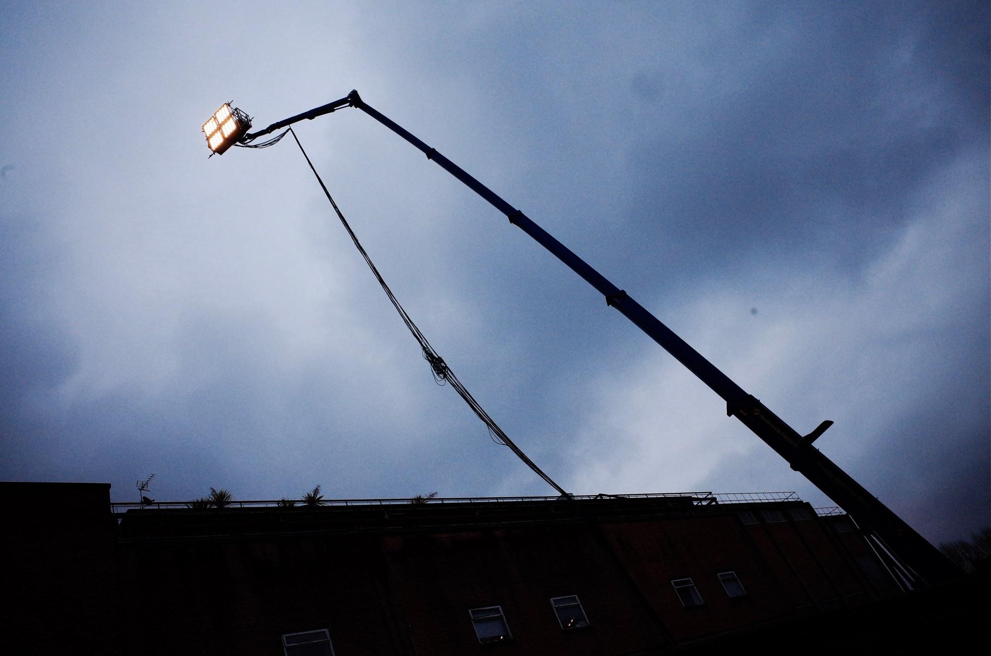 crane and lighting, london 2018