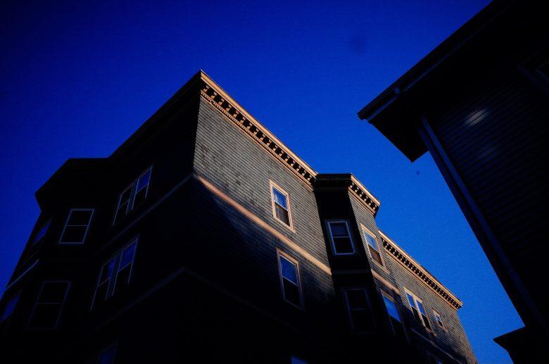 Blue building. Boston, 2018