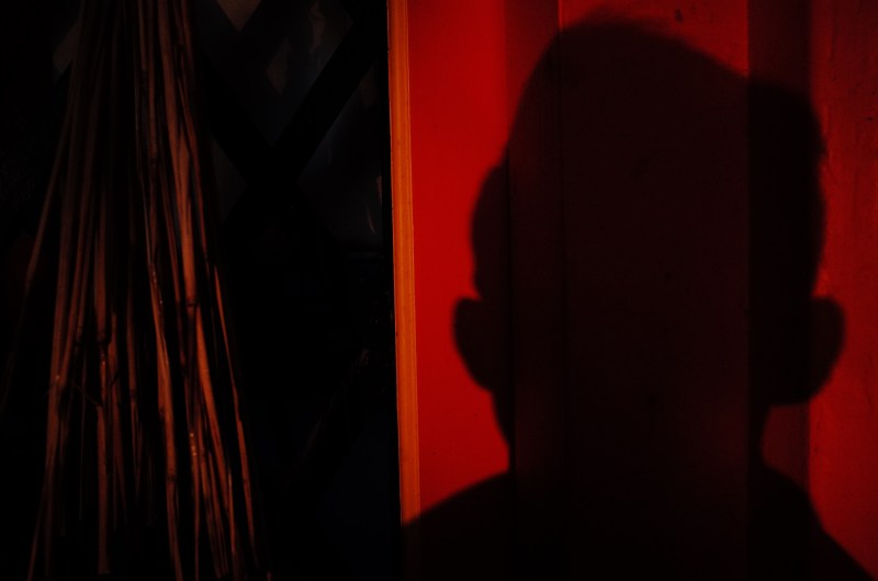 Red selfie shadow. Uji / Kyoto, 2018