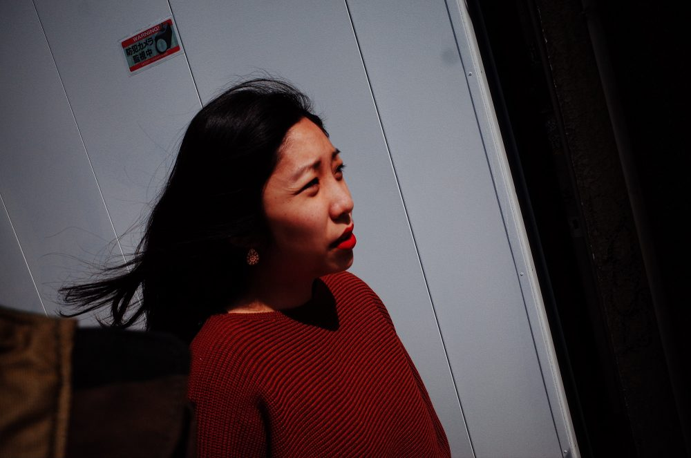 Cindy walking the streets of Osaka, 2018