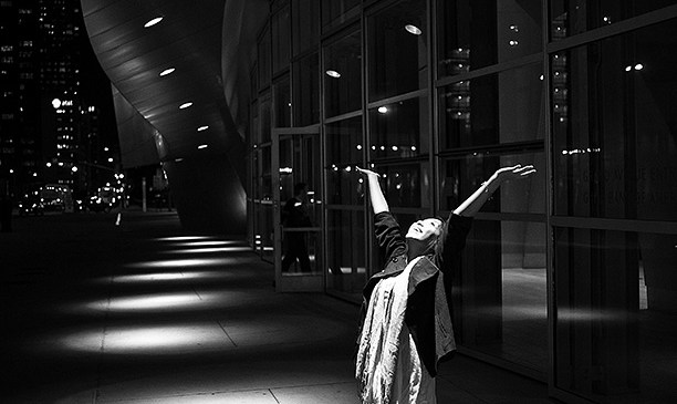 """The Spotlight"" // Photograph of Cindy in Downtown LA, 2009. Canon 5D, 35mm"