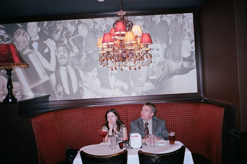Couple at dinner. Lansing, Michigan 2014