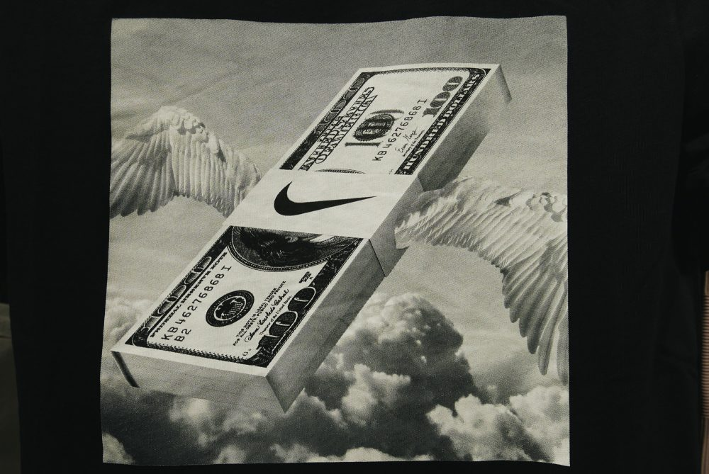 Money flying Nike cash wings