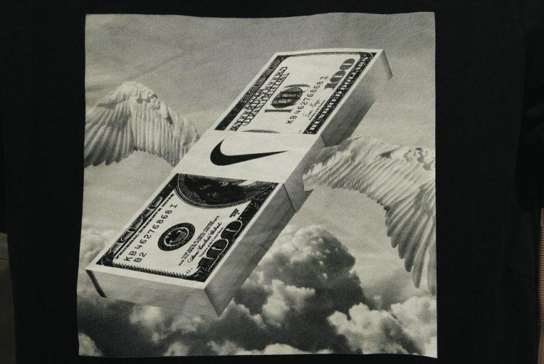 Money flying Nike cash wings