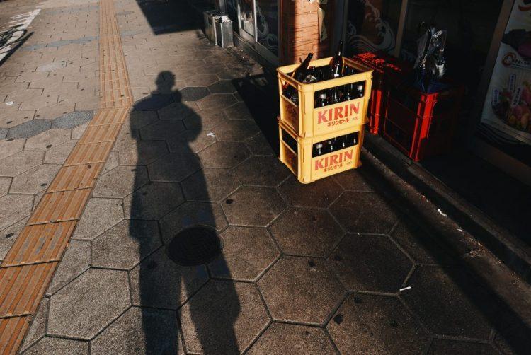 Selfie with Kirin. Sunrise in Osaka, 2018