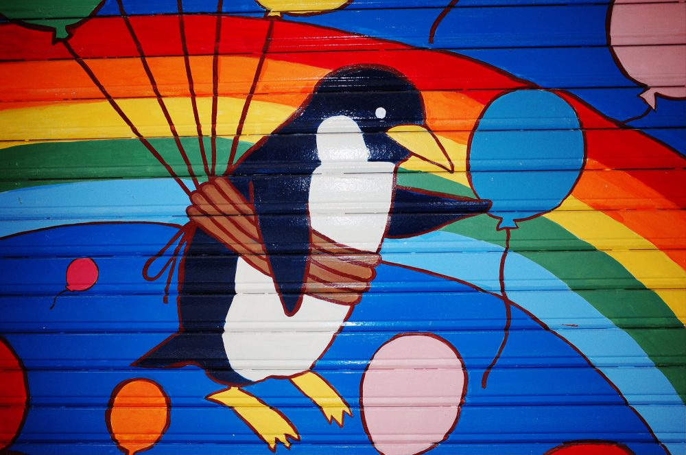 colorful rainbow penguin osaka