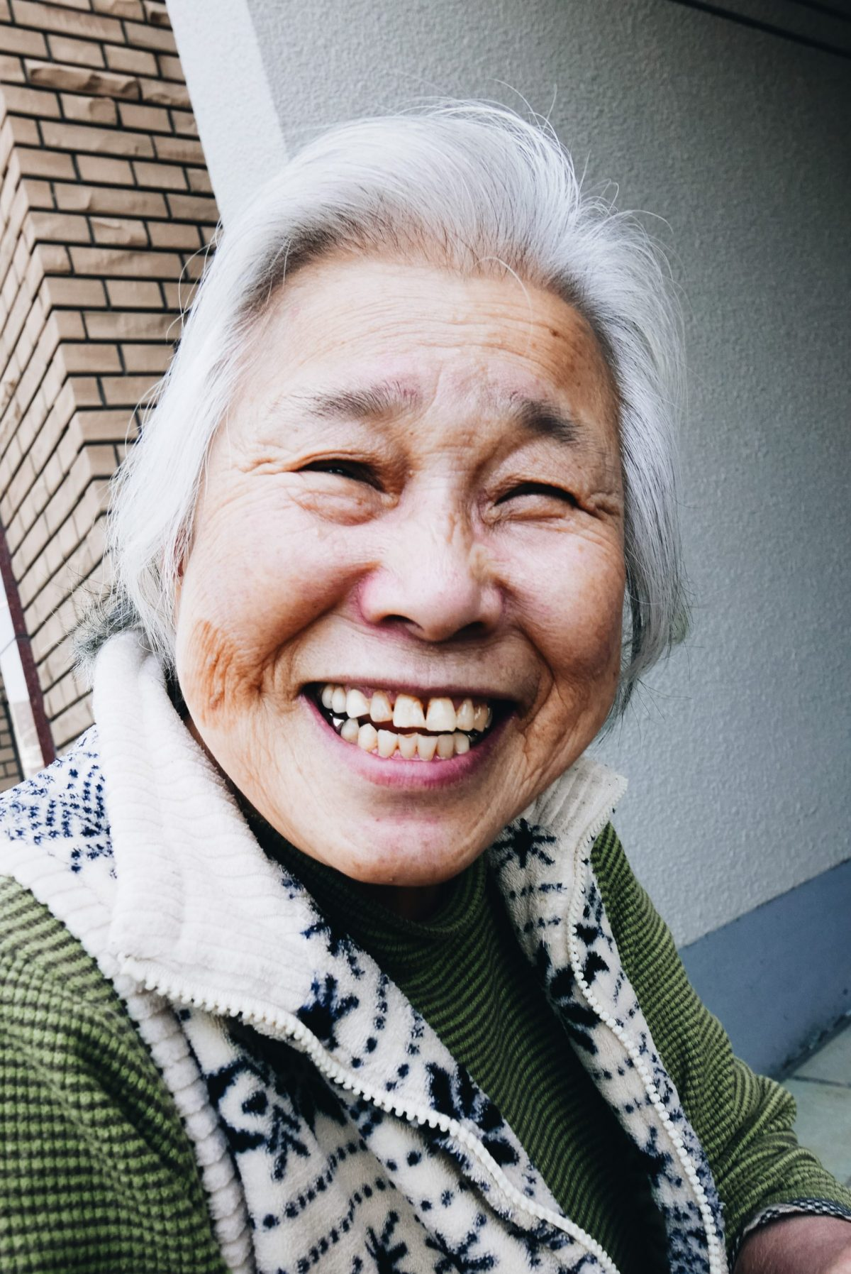 Kyoto older woman, street portrait. 2018. Looking at this photograph puts a huge smile on my face!