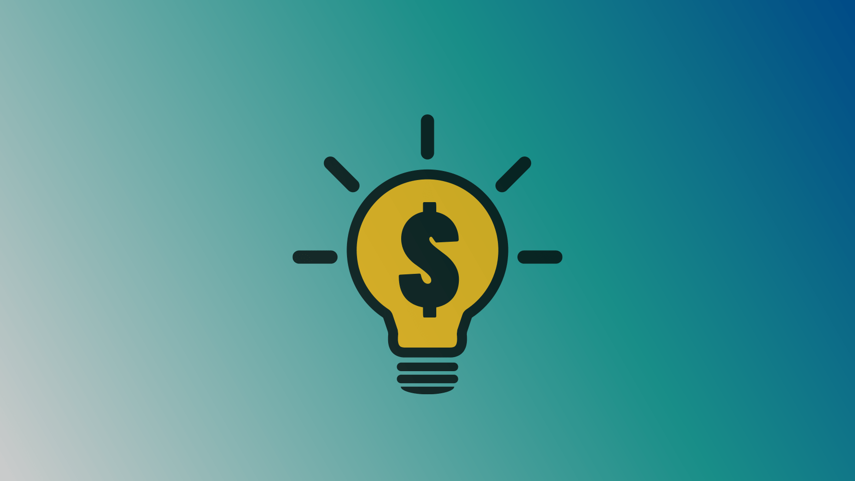 light bulb money icon