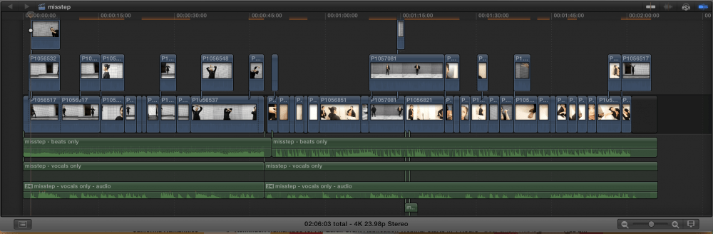 final cut pro timeline for miss fit by nguyen