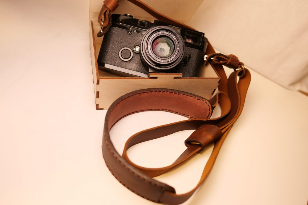 Henri Shoulder Strap in CREMA BROWN