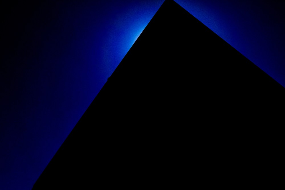 Blue sky twilight diagonal triangle