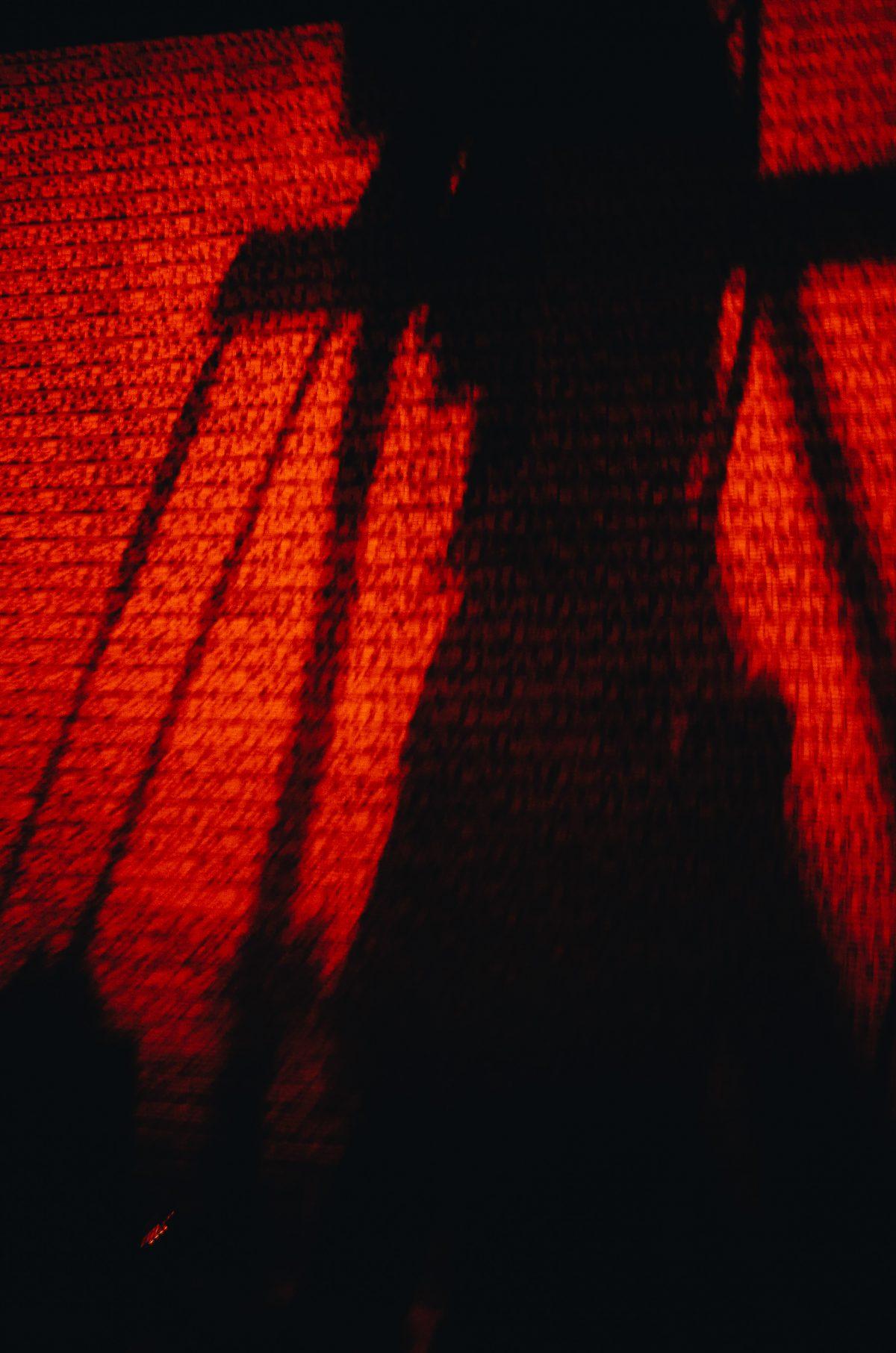 Black and orange shadow night Tokyo