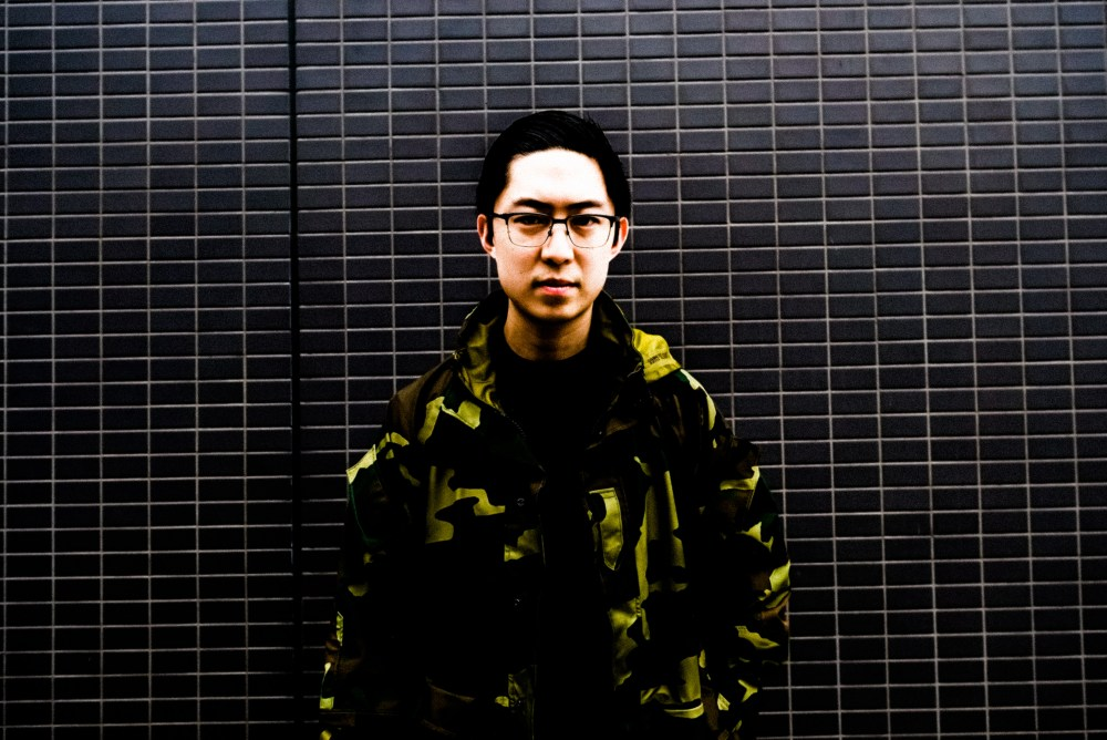eric kim camo camouflage black wall