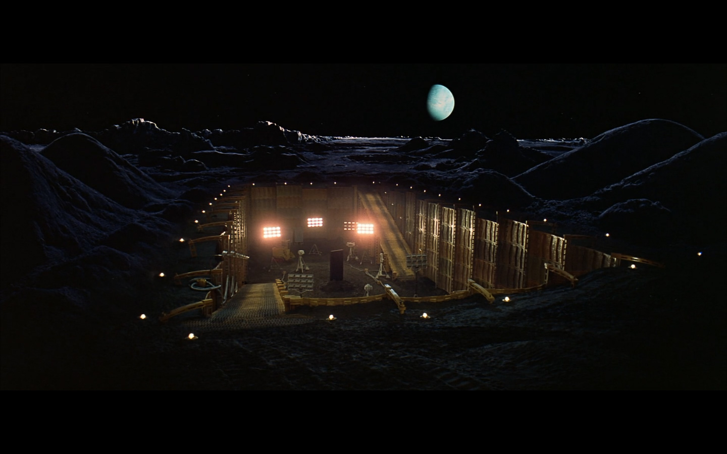 scene on the moon obelisk - space odyssey-1