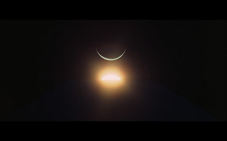 scene on the moon obelisk - space odyssey-24