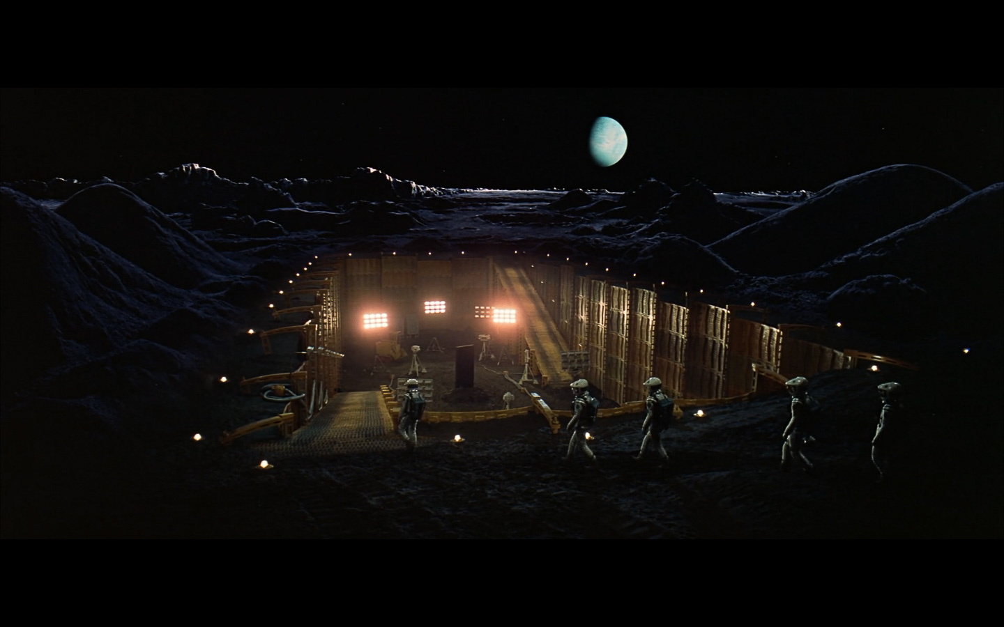 scene on the moon obelisk - space odyssey-4