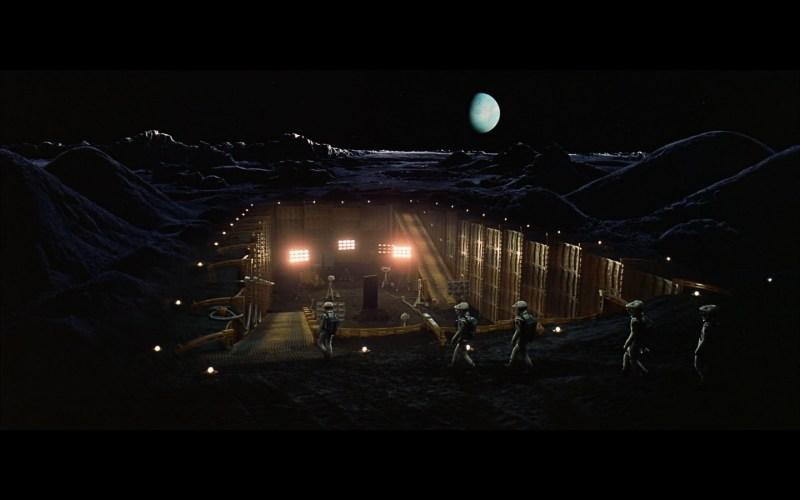 scene on the moon obelisk - space odyssey-4