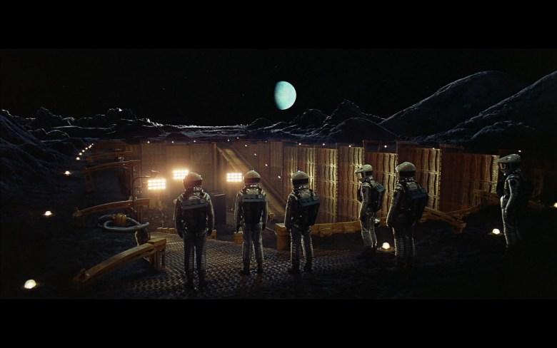 scene on the moon obelisk - space odyssey-7