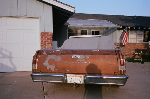 driveway and old chevorlet car eric kim only in america contact sheet1