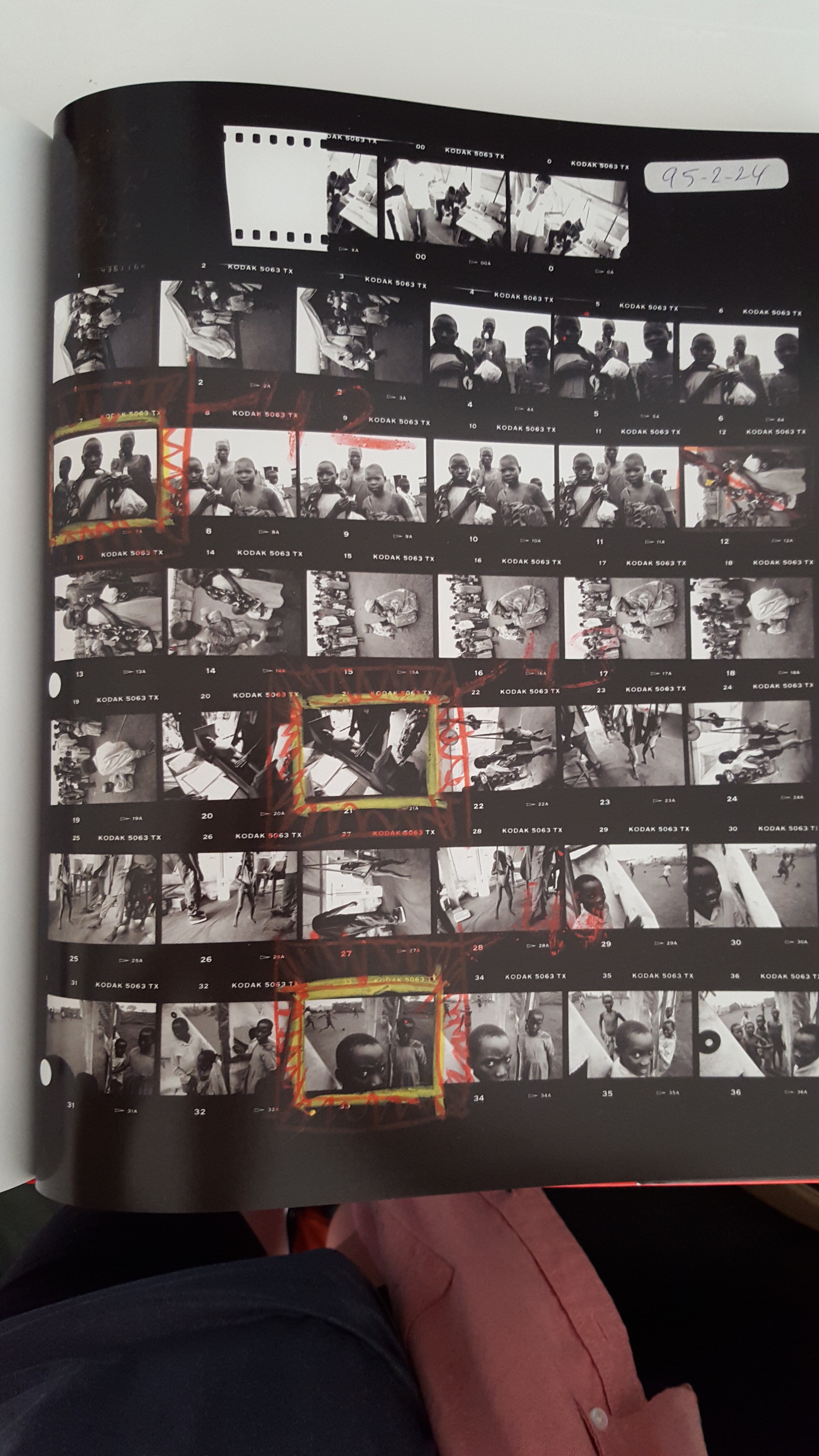 eli reed contact sheets - kids in africa1